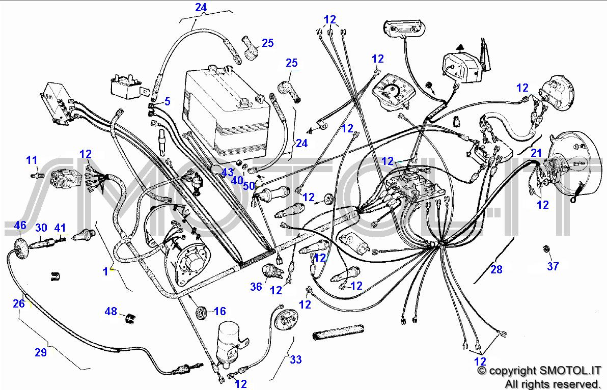 Schema Elettrico Mbk Booster : Tav impianto elettrico ape t impela