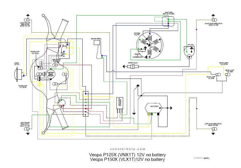Schema Elettrico Ape Tm 703 : Schema elettrico vespa px vnx t gt vendita ricambi