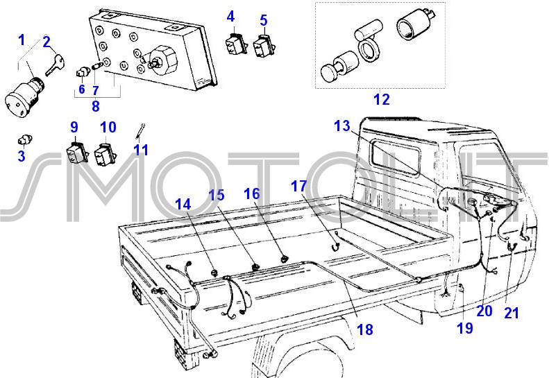 Schema Elettrico Ape 50 Monofaro : Schema elettrico ape piaggio idea di immagine del