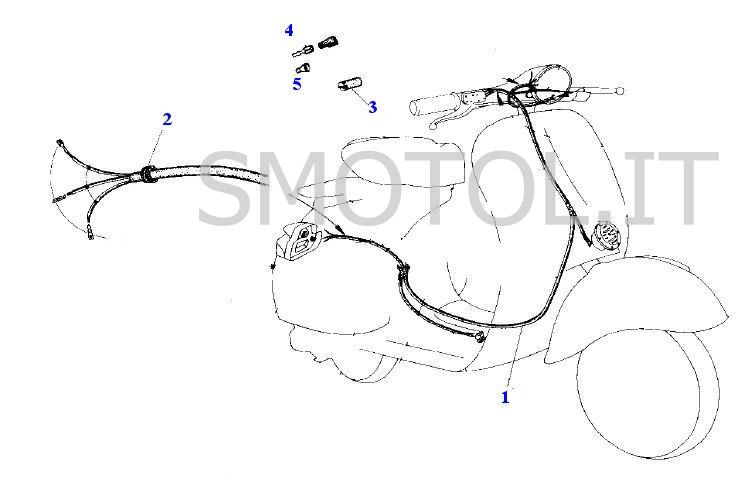 Schema Impianto Elettrico Per Vespa 50 Special : Impianto elettrico vespa special